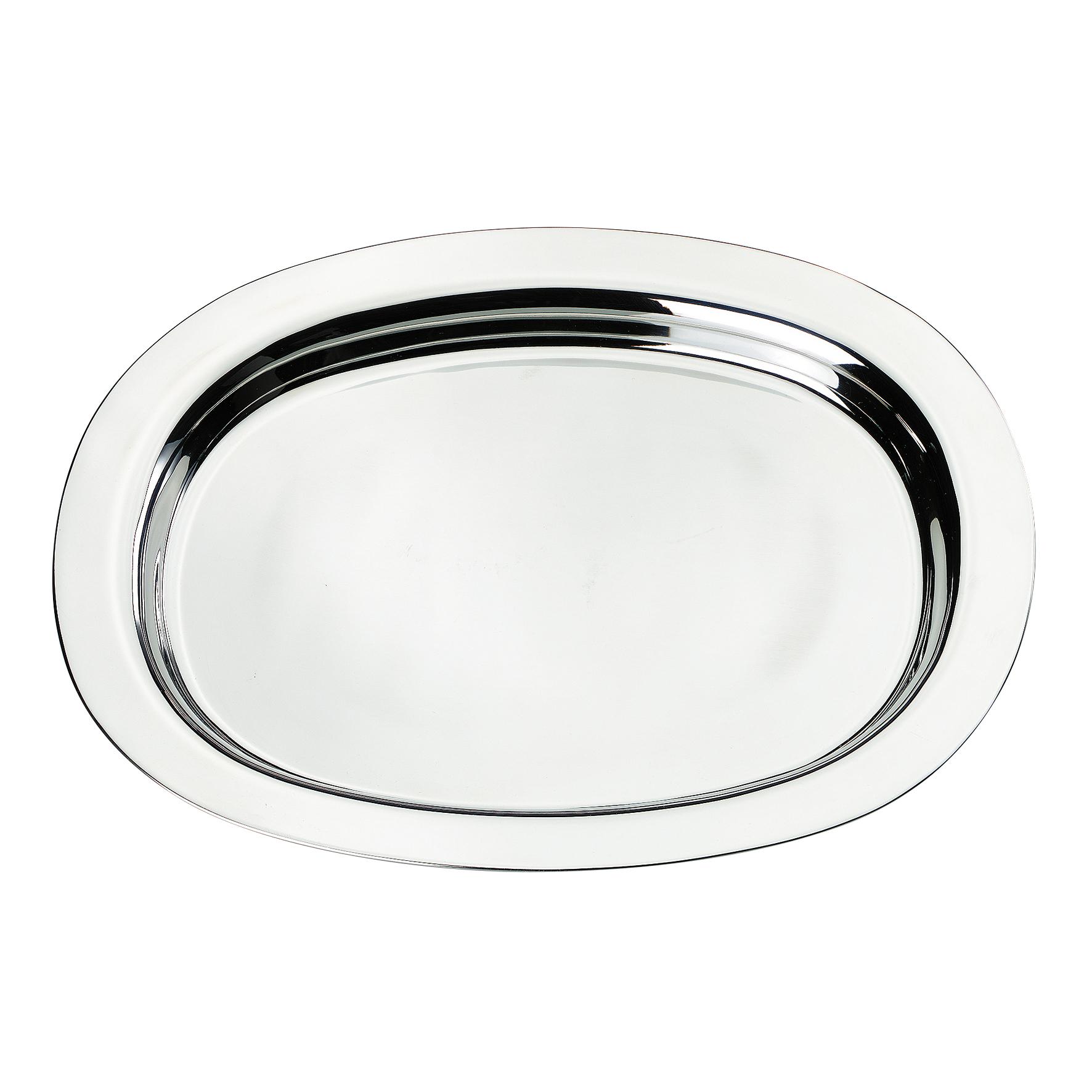 servierplatte oval edelstahl servier platte serviertablett. Black Bedroom Furniture Sets. Home Design Ideas