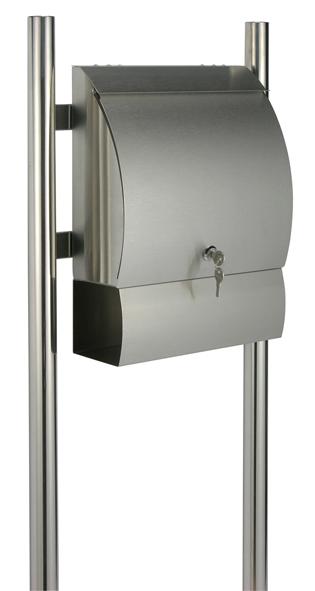 edelstahl stand standbriefkasten briefkasten postkasten letterbox brief kasten ebay. Black Bedroom Furniture Sets. Home Design Ideas