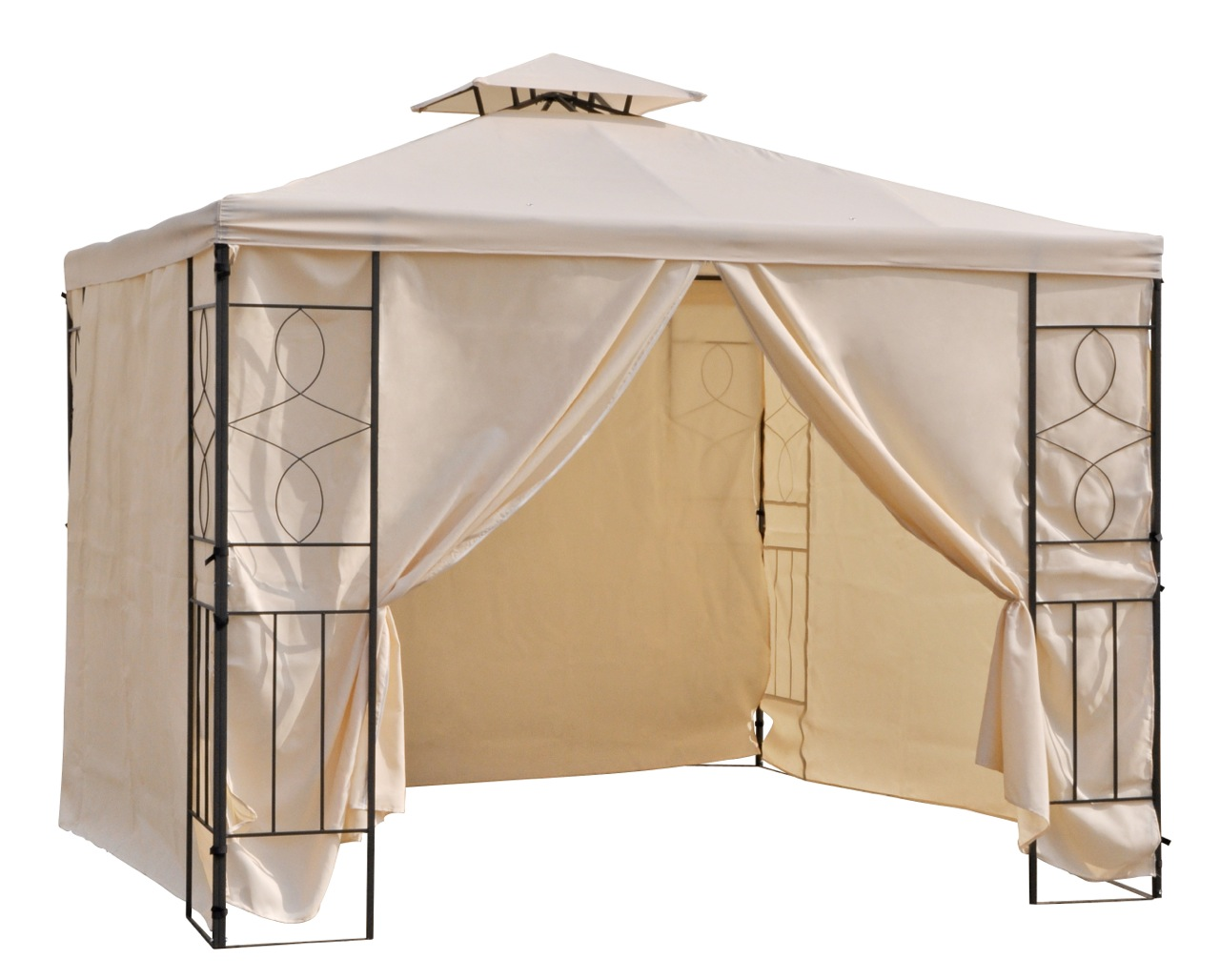 4 seitenteile seiten teile seitenw nde f r 3x3 metall pavillion pavillon beige ebay. Black Bedroom Furniture Sets. Home Design Ideas