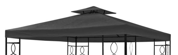 ersatzdach dach f r partyzelt pavillion pavillon anthrazit neu ebay. Black Bedroom Furniture Sets. Home Design Ideas