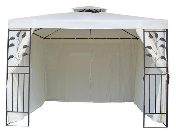 4 seitenteile seitenw nde f r 3x3 metall pavillion pavillon creme beige neu ebay. Black Bedroom Furniture Sets. Home Design Ideas