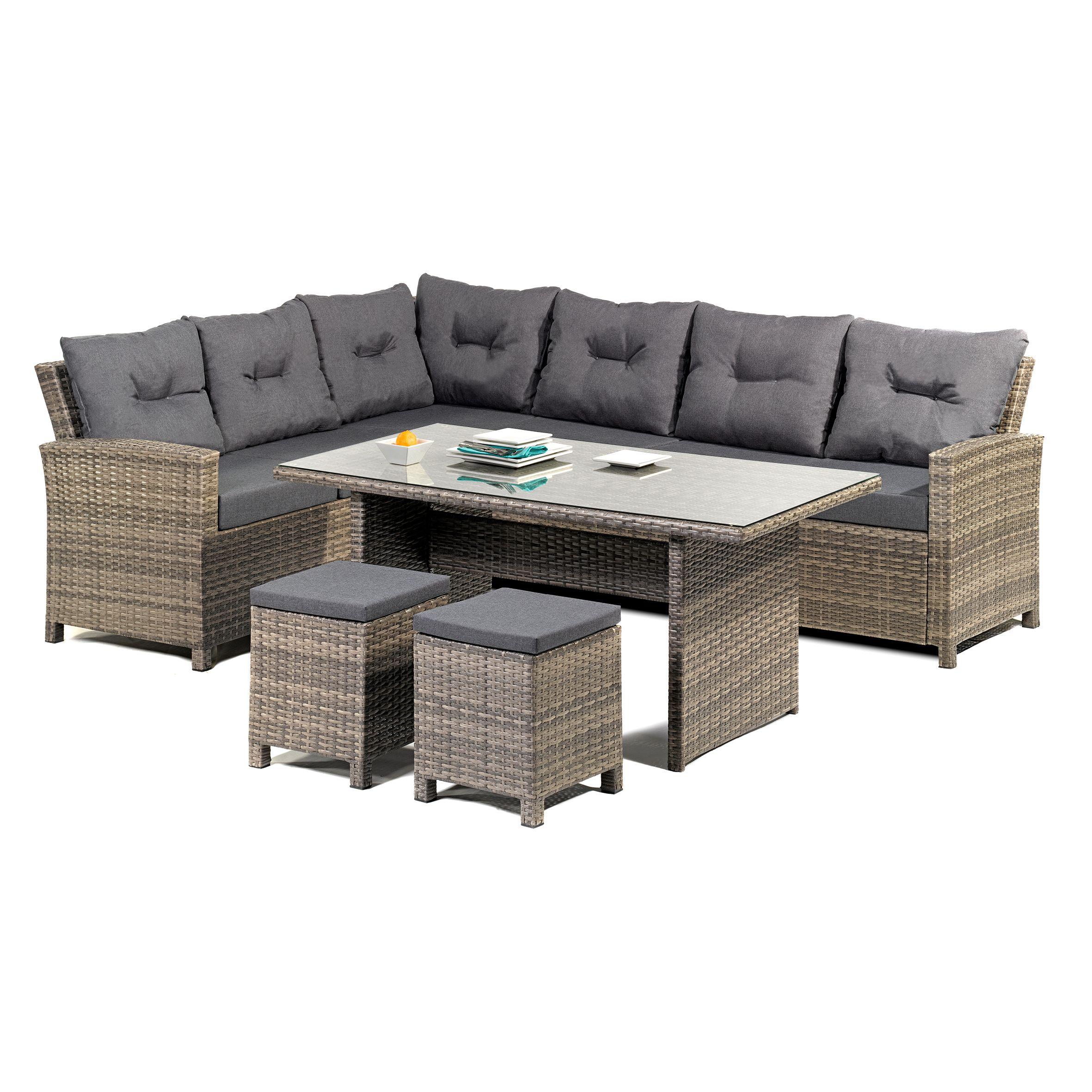 Lounge Set Melina Loungeset Gartenlounge Garten Sitzgruppe Tisch