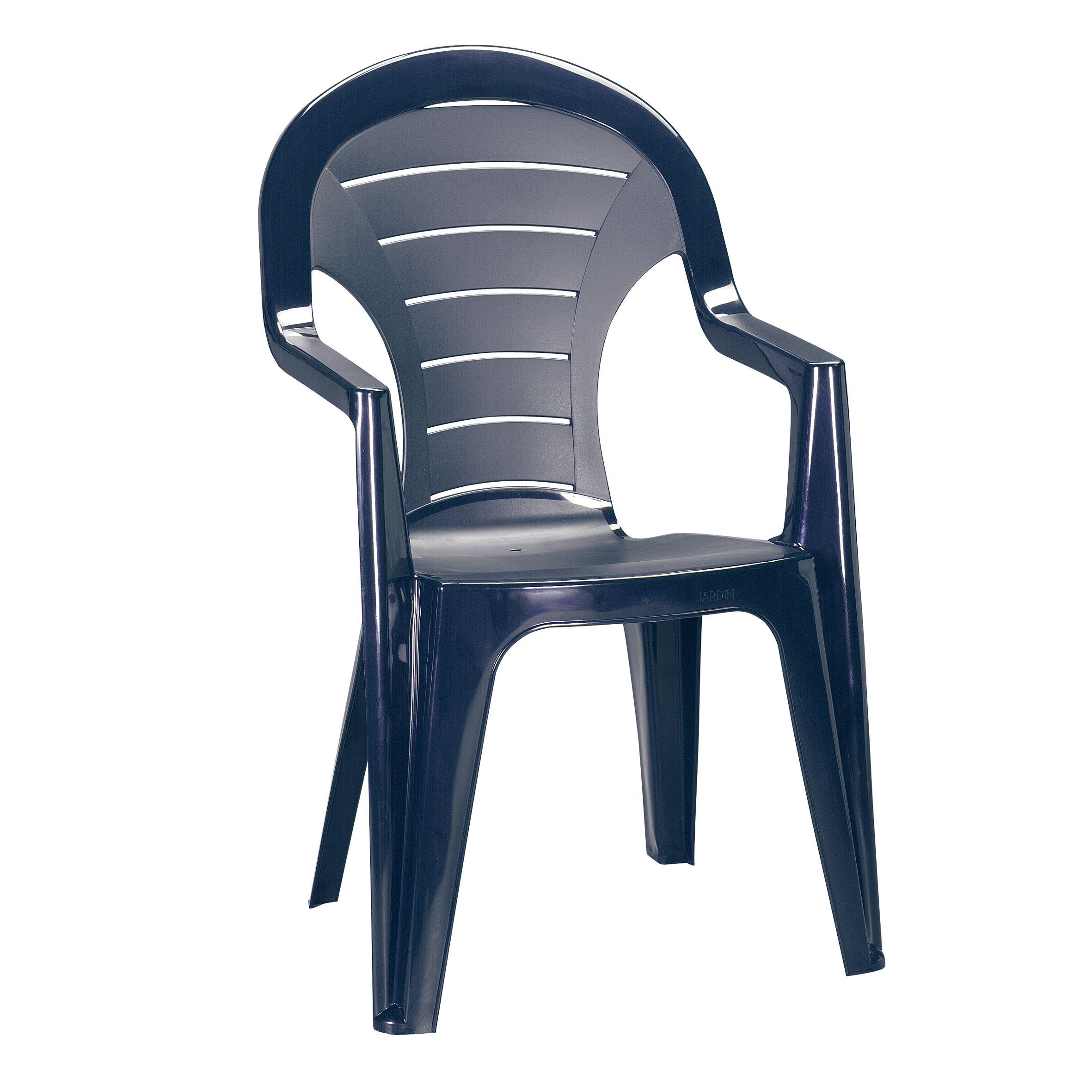 Stapelstuhl Bonaire Kunststoff blau Stapel Stuhl Gartenstuhl ...